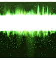 abstract Christmas green glowing background vector image vector image
