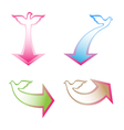 arrows with dove vector image vector image