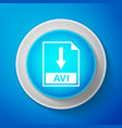 avi file document icon download avi button sign vector image vector image