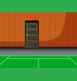 background indoor court with exit