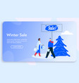 banner couple shopping vector image vector image