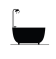 bathtub black silhouette vector image