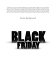 Black friday sale background on white vector image vector image