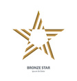 Bronze 3d star Business international award vector image