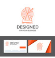 business logo template for aim focus goal target vector image vector image