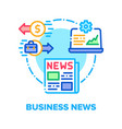 business news concept color vector image vector image
