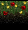christmas and new year seamless border with vector image vector image