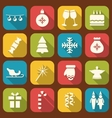Christmas Party Simple Icons vector image