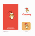 christmas penguin company logo app icon and vector image vector image