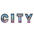 City construction Typographic vector image