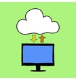 Cloud computing doodle style vector image