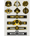 Collection of gold badges and banners vector image