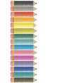 colored pencils side frame vector image