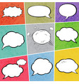 cosmic speech bubbles explosions paper design vector image