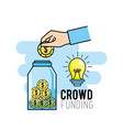 crowndfunding finance project to idea support vector image vector image