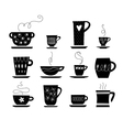 cup of tea or coffee vector image vector image