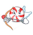 cupid peppermint candy character cartoon vector image