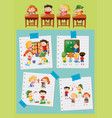 different activities of students at school vector image vector image