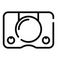 digital game console icon outline style vector image vector image