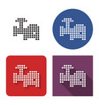 dotted icon electric meat chopper in four vector image
