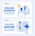e-health digital clinic service landing page set vector image