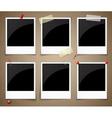 Empty polaroid photo frames vector image