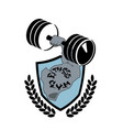 fitness center symbol modern sport club or gym vector image vector image