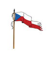 Flag Czech Republic Torn Ripped Retro vector image vector image