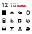 glossy icons vector image vector image