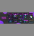gradient mobile application mockup ui ux kit vector image