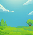 green hill vertical vector image