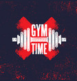 gym time fitness gym muscle workout motivation vector image vector image