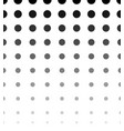 halftone dotted pattern texture horizontally vector image vector image