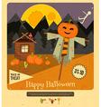 Halloween - Scarecrow Pumpkins vector image vector image