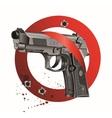 Handgun Beretta Elite Bloody Stop vector image vector image