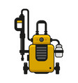 high pressure washer car wash machine vector image