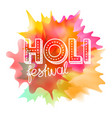 holi festival concept indian holiday vector image vector image