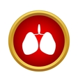 Human lungs icon simple style vector image vector image