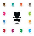 isolated elbow chair icon salon element vector image vector image