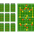 Main football strategy schemes vector image
