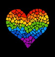 Mosaic rainbow heart vector image