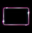 neon frame background colorful neon shiny border vector image