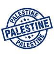 palestine blue round grunge stamp vector image vector image