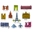 paris city sights vector image