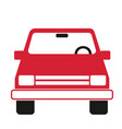 passenger vehicle front view simple art geometric vector image vector image