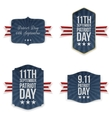 Patriot Day national Labels Set vector image vector image
