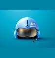 pilot jet helmet vector image vector image