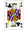 Poker playing card King club vector image vector image