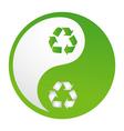 recycle yin yang vector image