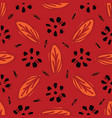 red bohemian retro floral pattern seamless vector image vector image